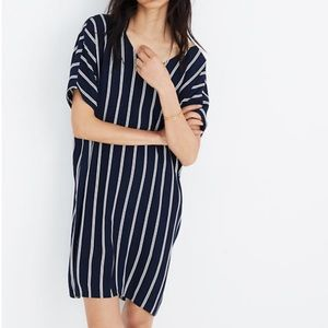 MADEWELL striped plaza dress loose fit shift S M